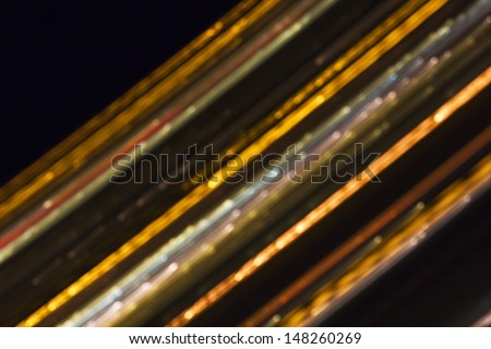Abstract glowing colorful lines - stock photo