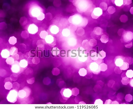 Abstract glowing lights on a violet background - stock photo