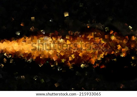 Abstract Gold and Black Design 4 - stock photo