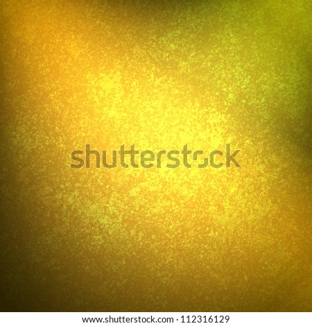 abstract gold background black vignette frame on border with vintage grunge background texture with old faded edges and center spotlight for elegant Christmas background or web template backdrop - stock photo
