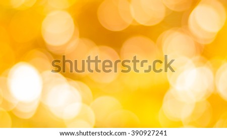 abstract gold background. Elegant abstract background with bokeh defocused lights