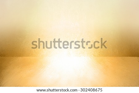 abstract gold background empty room interior, wall floor reflection illustration, 3d box product display showcase, blank stage or studio  - stock photo