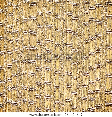 abstract gold background foil vintage paper texture layout with old light distressed sponge texture on beige cream grunge background texture design, light gold Christmas background holiday brochure - stock photo