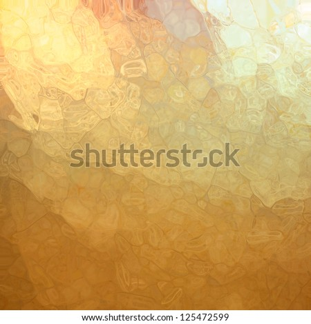 abstract gold background, glossy glass texture with corner spotlight sunshine design and blotchy mosaic style design effect with metallic shine and random shape elements, artsy luxury background - stock photo