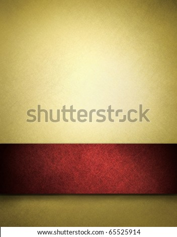 abstract gold background of red ribbon on beautiful Christmas background, anniversary, valentines day, fancy elegant background gold paper has vintage grunge background texture, luxurious - stock photo