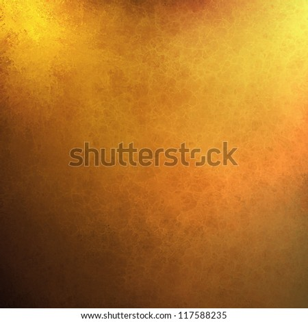 abstract gold background orange yellow paint, black border vintage grunge background texture. web design or warm bright shiny background Christmas wrapping paper, autumn Thanksgiving or fall brochure - stock photo