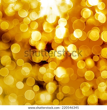 Abstract gold background with blur bokeh for design  - stock photo