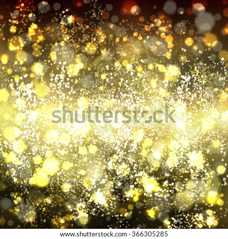Abstract gold background with bokeh. Yellow and light brown blurred background with shine. Raster illustration. Can be use for jewelry themes, fashion or holiday - stock photo