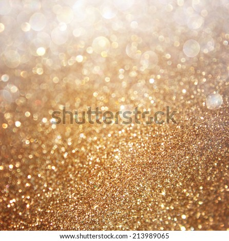 Abstract gold background with copy space . gliiter bokeh lights  - stock photo