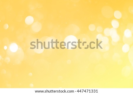 abstract gold bokeh background with defocused light