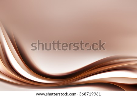Abstract Gold Brown Wave Design Background