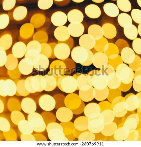Abstract Gold christmas bokeh background - Vintage effect style pictures