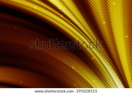 abstract gold curve line background with polka dot - stock photo