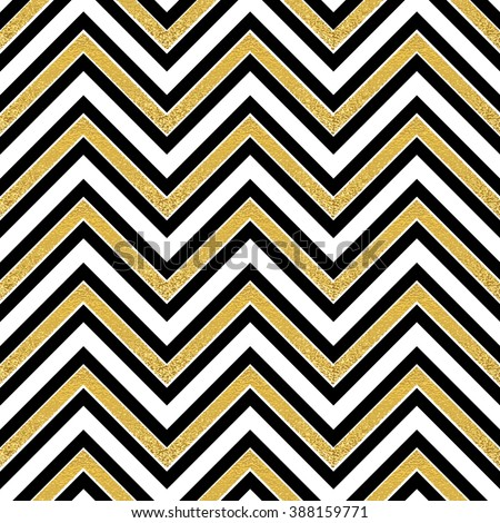 Abstract gold pattern Retro wallpaper, Pattern in zigzag. Classic chevron seamless pattern. Gold zigzag seamless design. Gold vintage glitter zigzag. Vintage greeting card with gold foil sequins. - stock photo