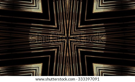 Abstract Gold Shapes Background