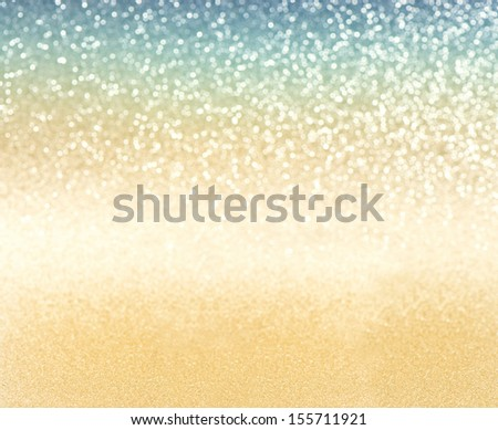 abstract golden background. defocused lights. selective focus  - stock photo