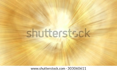 Abstract golden background with a powerful blast. Raster graphic pattern - stock photo