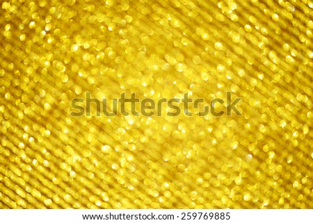 Abstract golden background with effect bokeh for design - stock photo