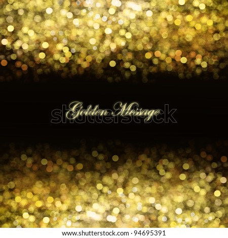 Abstract golden background with place for text - stock photo