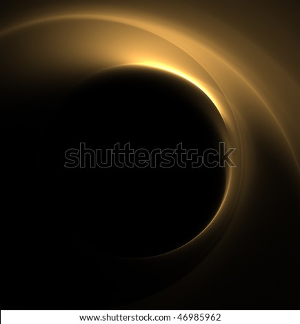 abstract golden black background - stock photo