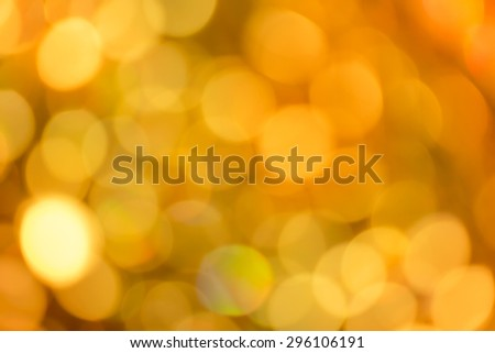Abstract Golden bokeh background b4