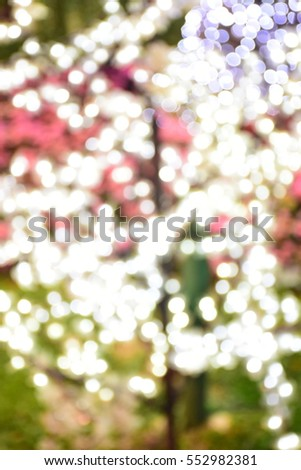 Abstract golden bokeh background, festive theme