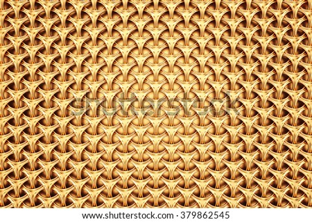 Abstract golden grid background - stock photo