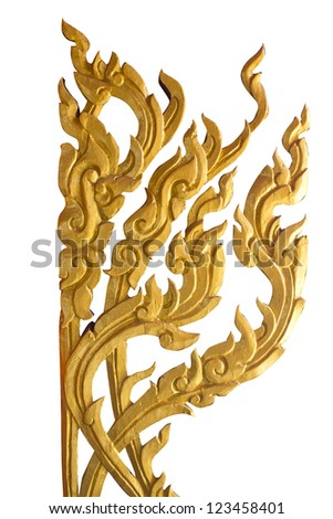abstract golden lai-Thai style art background pattern