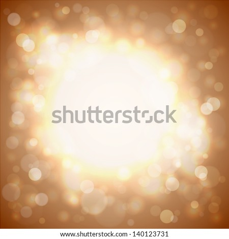 Abstract golden light background  - raster version - stock photo
