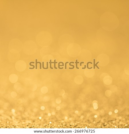 Abstract Golden Orange Background With Bokeh And Glitter/ Golden Orange Background  - stock photo
