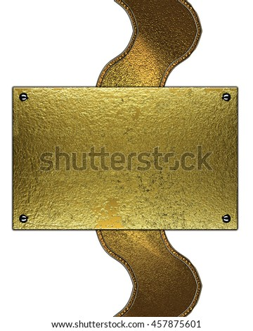 Abstract golden plate for text. Template for design. copy space for ad brochure or announcement invitation