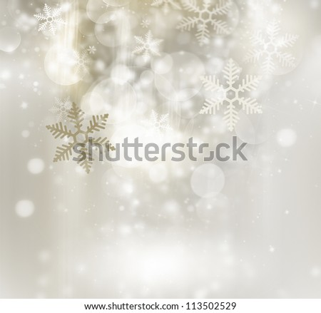 Abstract golden winter background - stock photo