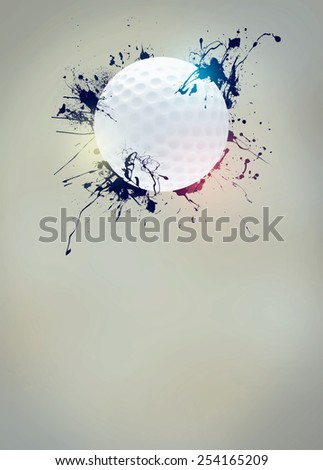 Abstract golf sport invitation poster or flyer background with empty space - stock photo