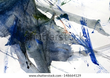 Abstract gouache drawing as a background - stock photo