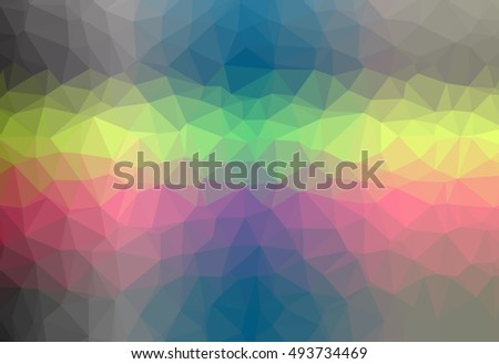 Abstract gradient colorful polygonal pattern graphic background. Geometric multicolored