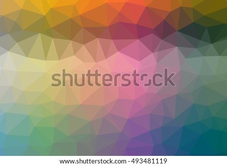 Abstract gradient colorful polygonal pattern graphic background. Geometric multicolored - purple, blue, yellow, green