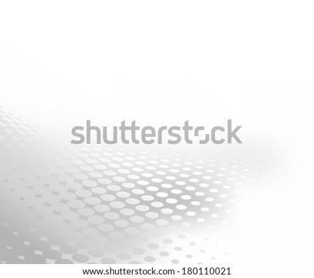 Abstract gradient grey and white background with dot swirl pattern overlay. Plenty of copy space. Perfect any communication art.  - stock photo