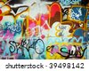 Abstract graffiti background - stock