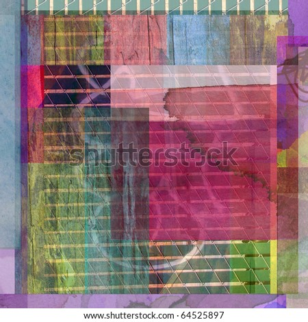 abstract graphic design background composition - stock photo
