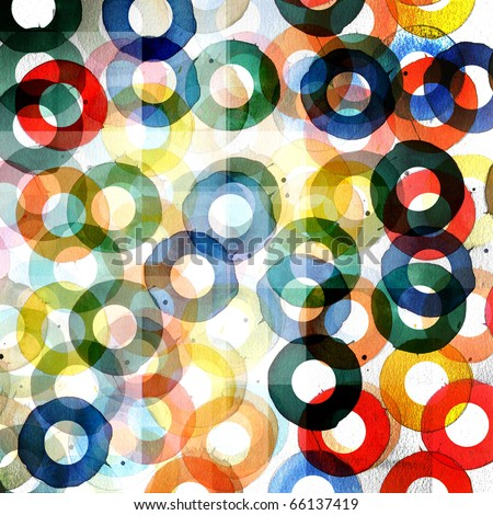 abstract graphic design circles pattern background - stock photo