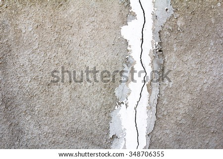 Abstract gray background with cracks, rust, horizontal and vertical stripes - stock photo