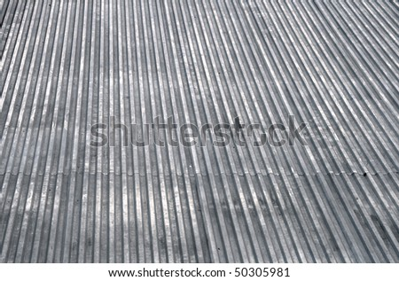 Abstract gray metal roof top texture background - stock photo