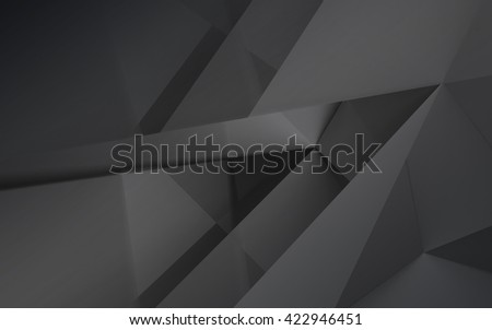 Abstract gray polygonal mosaic background, creative design template - stock photo