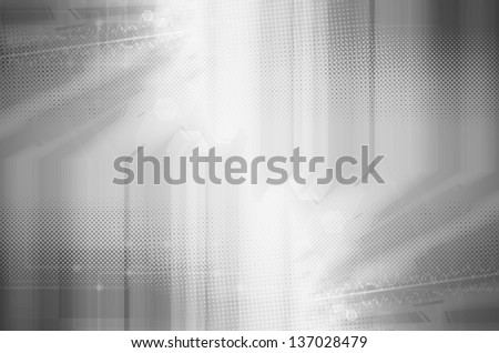 Abstract gray technology background. - stock photo