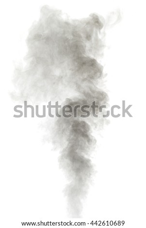 Abstract gray water vapor on a white background. Texture. Design elements. Abstract art. Steam the humidifier. Macro shot. - stock photo