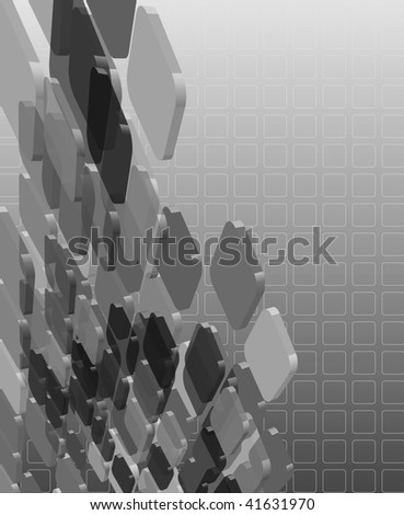 Abstract grayscale transparent composition