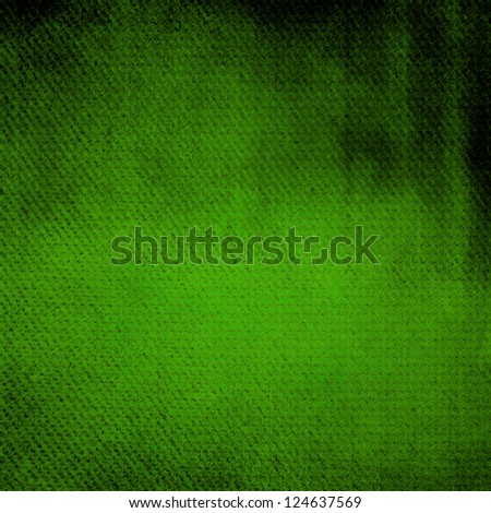 Abstract green and black background or paper with grunge texture. For vintage layout design of colorful graphic art or border frame