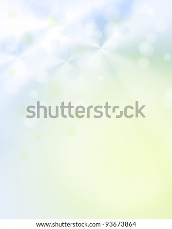 Abstract green and blue background. Copy space - stock photo