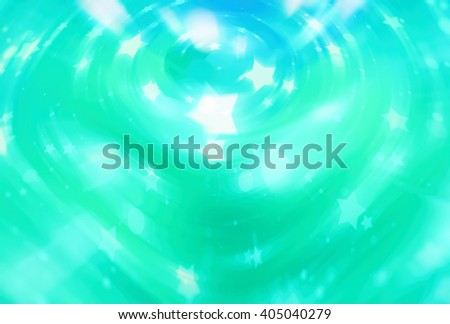 abstract green and blue background with scintillating circles and gloss