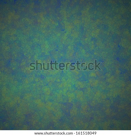 abstract green background blue and yellow paint accent colors in sponge grunge background texture design for printed materials or web backgrounds - stock photo